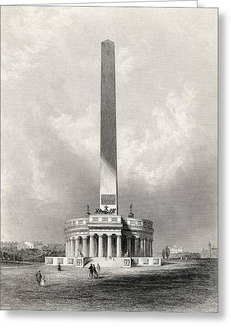 Americana Drawings Greeting Cards - The Washington National Monument Greeting Card by Ken Welsh