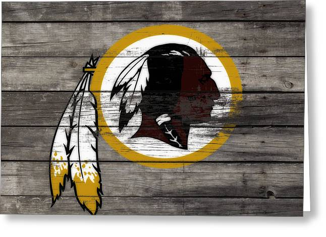 The Washington Redskins 3e Greeting Card by Brian Reaves