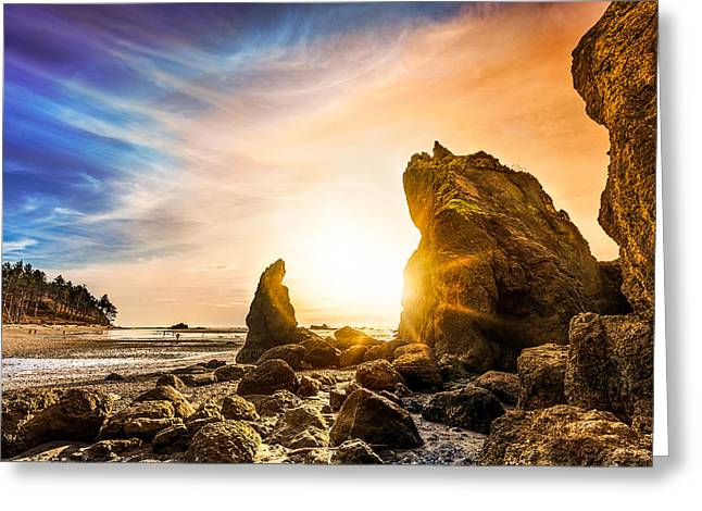 Monolith Greeting Cards - The Watchers Greeting Card by Dana Walker