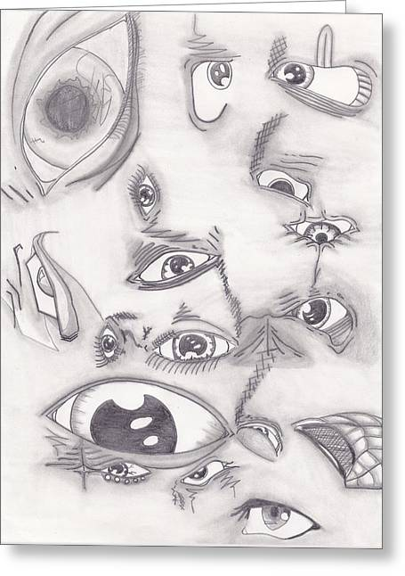 Seen Pastels Greeting Cards - Com a con eye C you Greeting Card by Adam Norman