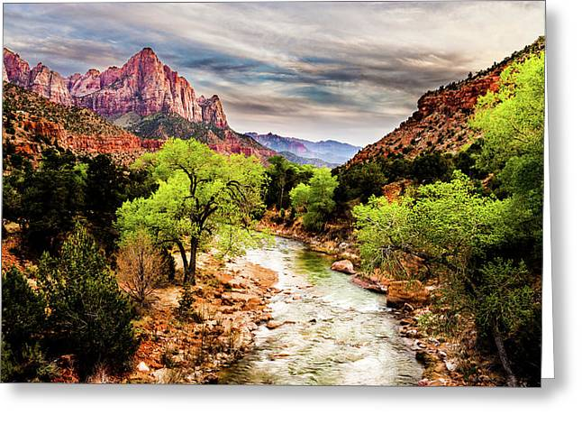 Southern Utah Greeting Cards - The Watchman 2 Greeting Card by TL  Mair