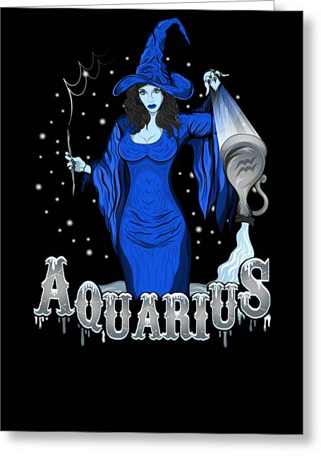Greeting Card featuring the drawing The Water Bearer - Aquarius Spirit by Raphael Lopez