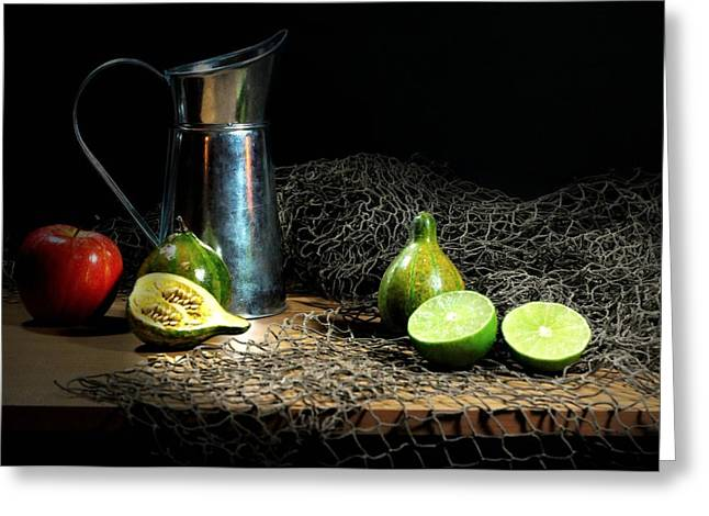 Still Life With Pitcher Greeting Cards - The Water Glove Greeting Card by Diana Angstadt