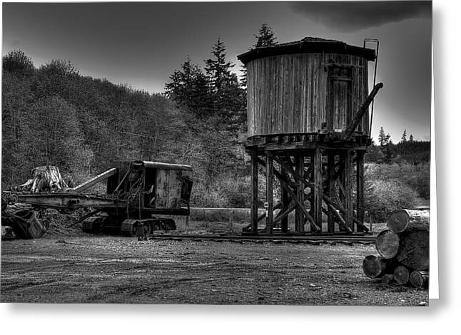 The Water Tower Greeting Card by David Patterson