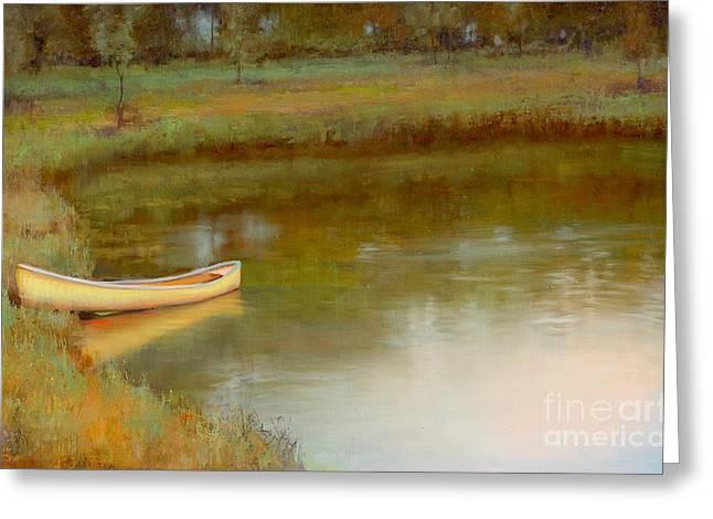 The Water's Edge Greeting Card by Lori  McNee