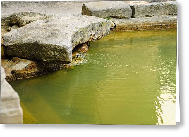 The Waters Of Bath Greeting Card by Christi Kraft