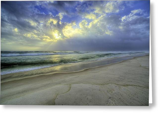 The Waters Of Panama City Beach Greeting Card by JC Findley