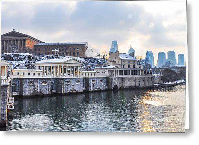 Greeting Cards - The Waterworks in Winter Greeting Card by Bill Cannon