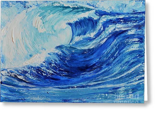 The Wave Greeting Card by Teresa Wegrzyn