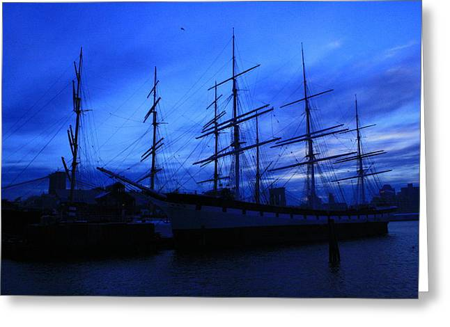 Tall Ship Greeting Cards - The Wavertree Greeting Card by Christopher Kirby