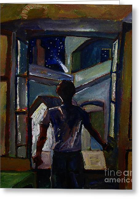 Art Book Greeting Cards - THE WAY OF THE DOORS Book Cover Greeting Card by Charlie Spear