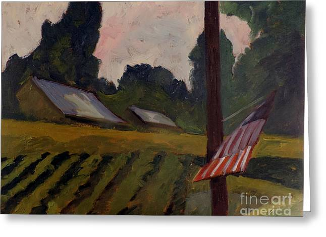 The Way Station Plein Air Framed Greeting Card by Charlie Spear
