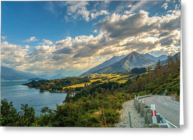 Roadway Greeting Cards - The Way To Glenorchy Greeting Card by James Udall