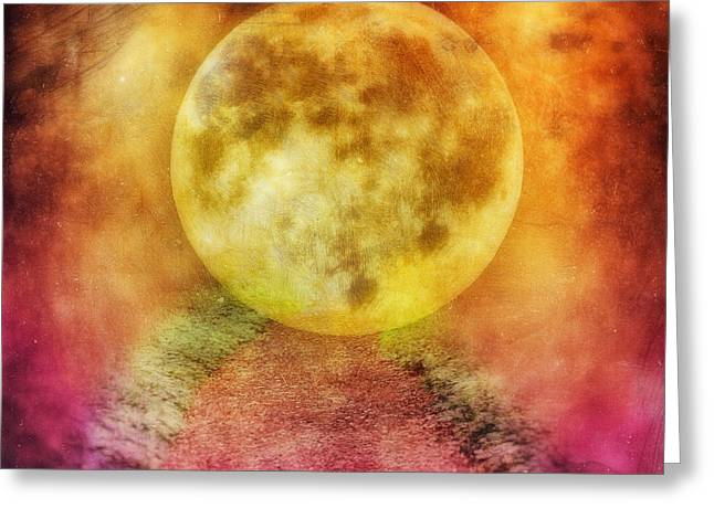 Fairies Photographs Greeting Cards - The way to the moon Greeting Card by SK Pfphotography