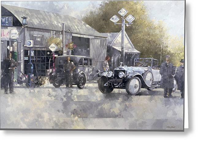 Stylish Car Greeting Cards - The Way We Were Greeting Card by Peter Miller
