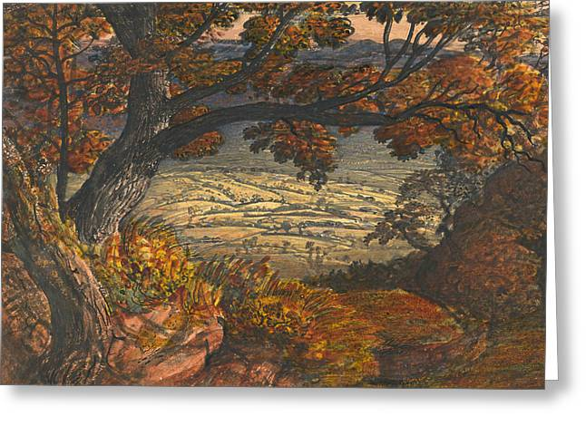 The Weald Of Kent Greeting Card by Samuel Palmer