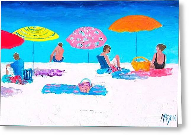 Beach Cottage Style Greeting Cards - The weather is sweet Greeting Card by Jan Matson