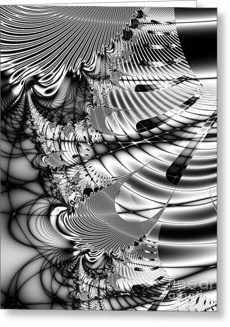Algorithm Greeting Cards - The Web We Weave Greeting Card by Wingsdomain Art and Photography