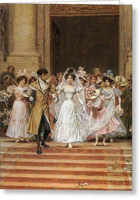 The Wedding Greeting Card by Frederik Hendrik Kaemmerer