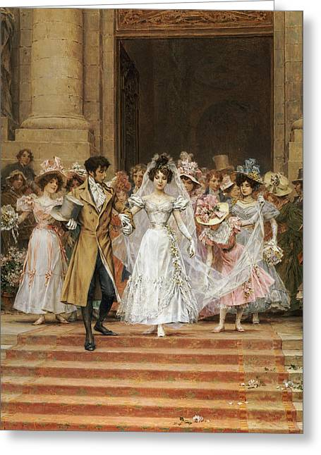 Descend Greeting Cards - The Wedding Greeting Card by Frederik Hendrik Kaemmerer