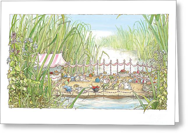 Coloured Greeting Cards - The Wedding Party Greeting Card by Brambly Hedge