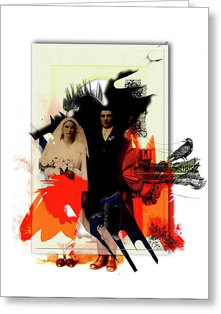 The Wedding Picture Greeting Card by Aniko Hencz