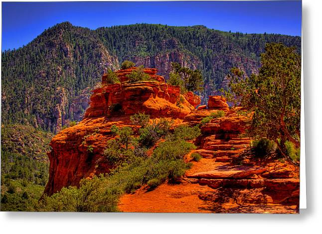 Oxide Greeting Cards - The Wedding Rock in Sedona Greeting Card by David Patterson