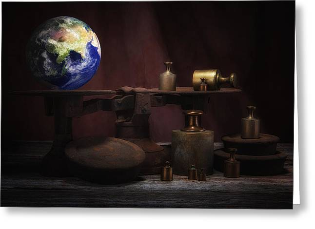 The Weight Of The World Greeting Card by Tom Mc Nemar