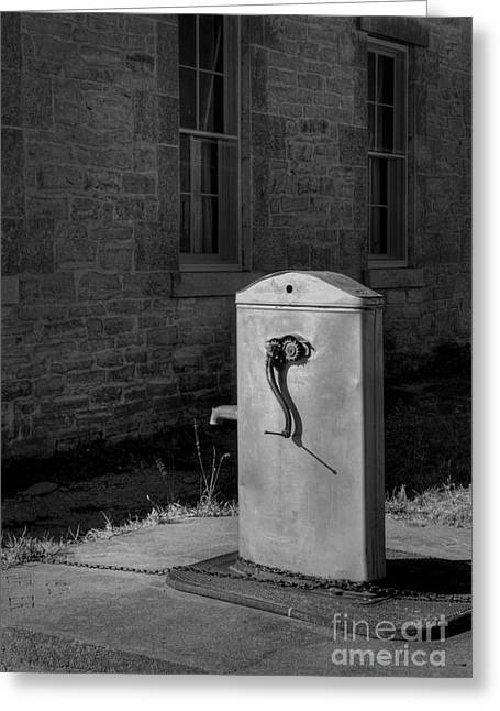 Faucet Greeting Cards - The Well Greeting Card by Fred Lassmann