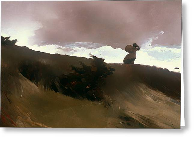 Blustery Greeting Cards - The West Wind Greeting Card by Winslow Homer