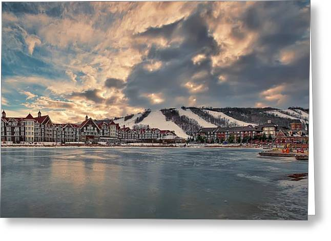 Snowy Evening Greeting Cards - The Westin Hotel Greeting Card by Jeff S PhotoArt