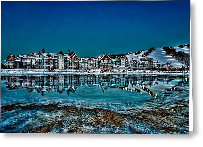 Beauty Mark Greeting Cards - The Westin on Ice Greeting Card by Jeff S PhotoArt