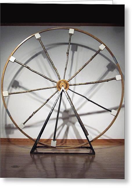 Les Sculptures Greeting Cards - The Wheel Greeting Card by Mihaela Nicolcioiu-Savu