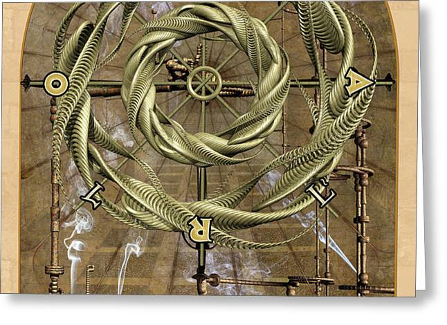 The Wheel of Fortune Greeting Card by John Edwards