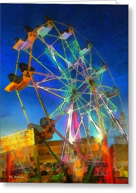 Amusements Greeting Cards - The Wheel Greeting Card by RC deWinter