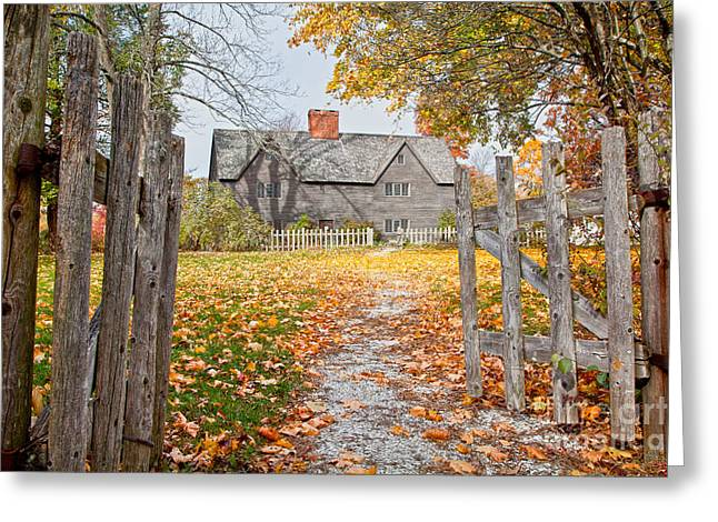 Colonial Architecture Greeting Cards - The Whipple House Greeting Card by Susan Cole Kelly