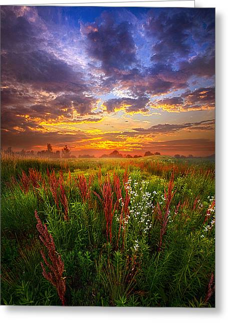 Green Leafs Greeting Cards - The Whispered Voice Within Greeting Card by Phil Koch
