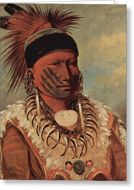 The White Cloud Head Chief Of The Iowas Greeting Card by George Catlin