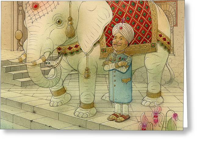 The White Elephant 05 Greeting Card by Kestutis Kasparavicius