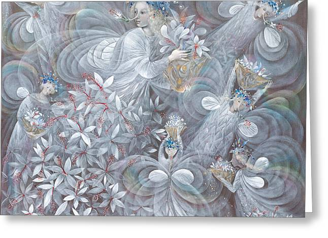 White Wing Greeting Cards - The white hibiscus Greeting Card by Annael Anelia Pavlova