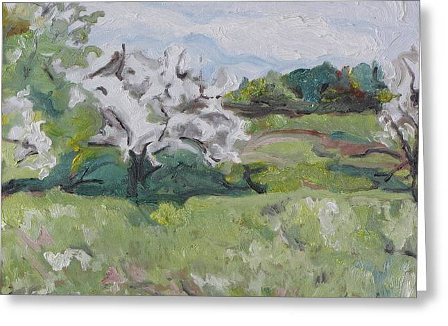 Impressionist Greeting Cards - The White Of Spring Greeting Card by Francois Fournier
