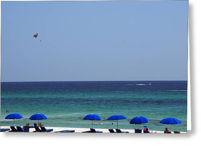 Panama City Beach Fl Greeting Cards - The White Panama City Beach - before the Oil Spill Greeting Card by Susanne Van Hulst