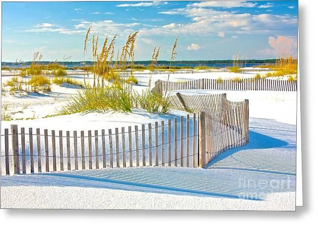 White Paintings Greeting Cards - The White Sands Of Florida Greeting Card by Olivia Bonham