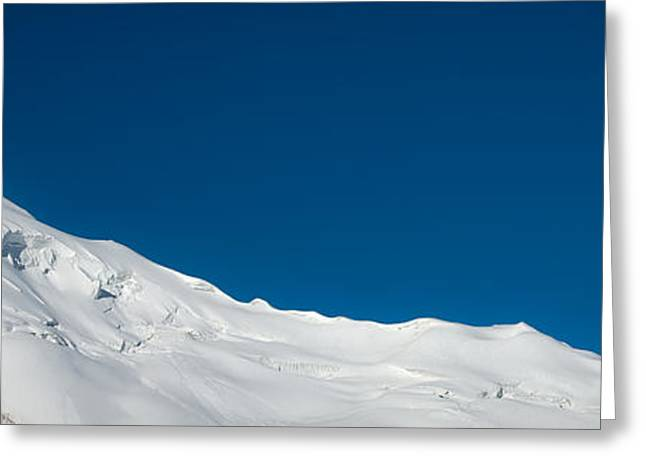 The White Summit Greeting Card by Konstantin Dikovsky