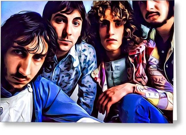 20th Greeting Cards - The Who Portrait  Greeting Card by Digital Designs