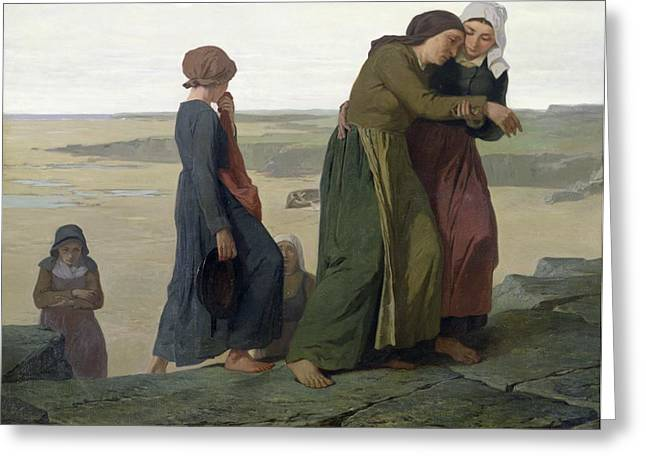The Widow Greeting Card by Evariste Vital Luminais