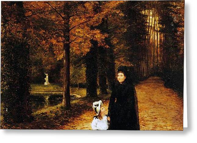 The Widow Greeting Card by Horace de Callias