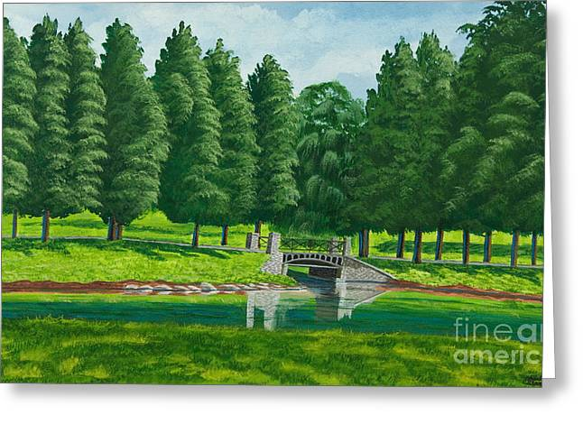The Willow Path Greeting Card by Charlotte Blanchard