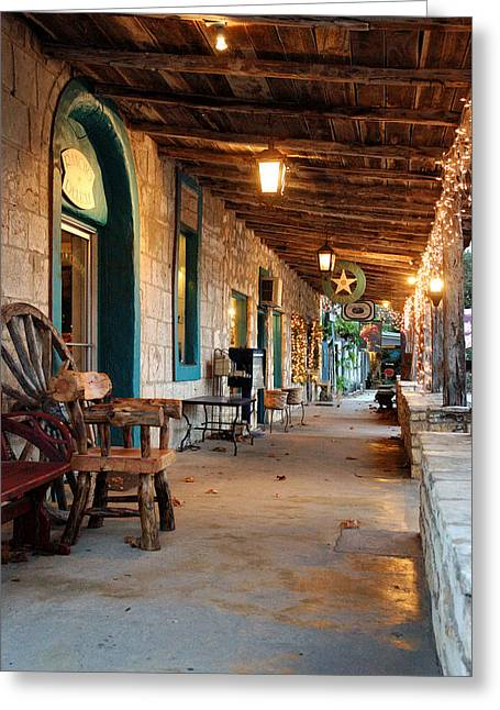 Wimberley Greeting Cards - The Wimberley Square  Greeting Card by Robert Anschutz