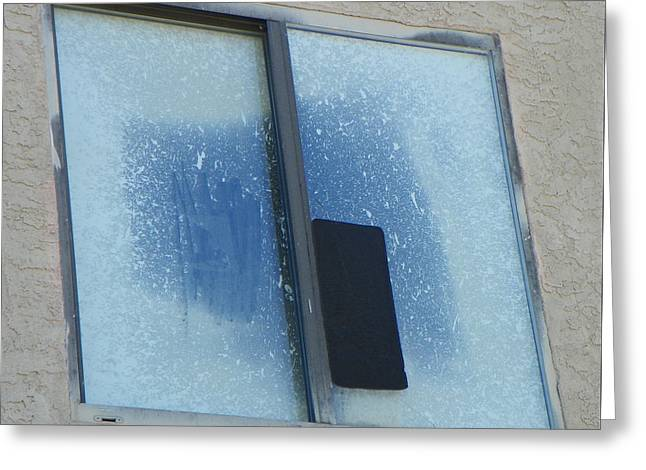 Rectangles Greeting Cards - The Window Painting Greeting Card by Lenore Senior